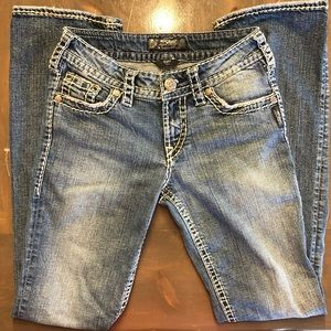 Ladies Silver Suki Jeans